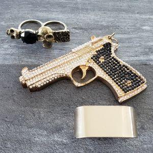 Black Gold Double Statement Ring Bundle